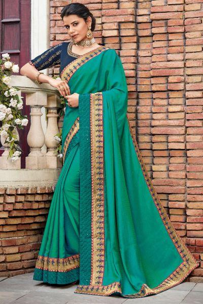 Rama Green Silk Saree (NWSA-5078)