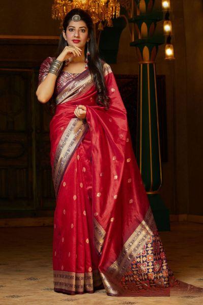 Red Banarasi Art Silk Saree (NWSA-4925)