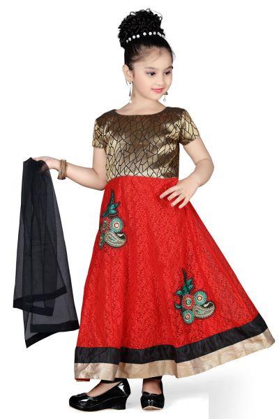 Red Net Girls Salwar Kameez (NFG-114)