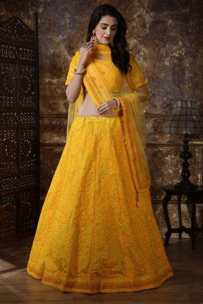 Yellow Silk Festive Lehenga Choli (NWG-316)