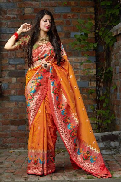 Yellow Soft Silk Sari (NWSA-5125)