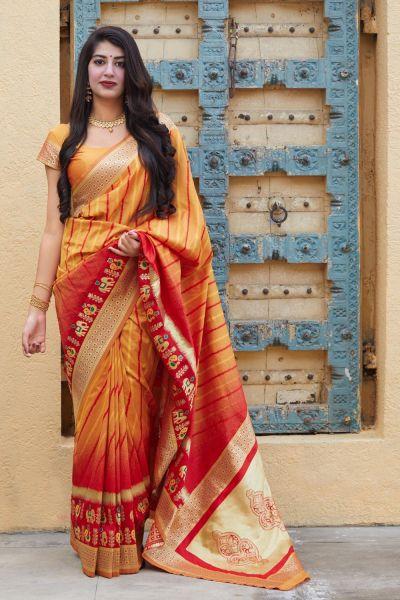 Yellow Soft Silk Weaving Saree (NWSA-5129)