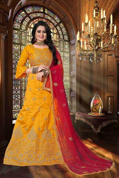 Yellow Zoya Silk Casual Lehenga Choli (NWG-347)